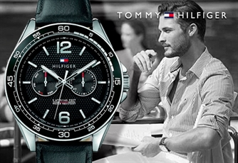 Relógio TOMMY HILFIGER® (Modelo: Black Dial and Black Leather Strap). Estilo e Elegância no teu pulso!