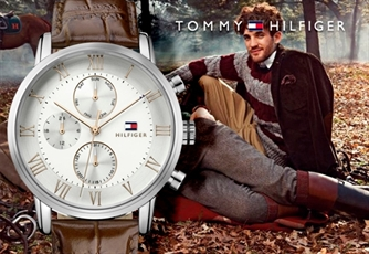 Relógio TOMMY HILFIGER® (Modelo: Silver Dial and Brown Leather Strap). Estilo e Elegância no teu pulso!