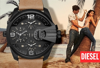 Relógio DIESEL® (Modelo: Uber Chief Black and Dark Brown). Para aqueles que sabem ter estilo!