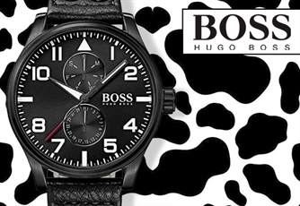 Relógio HUGO BOSS | Modelo: Black Leather. De design único e sofisticado!