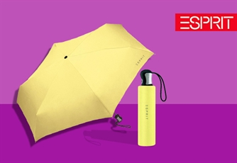 Guarda Chuva ESPRIT Lemonade (Tipo: Easymatic 4-Section). Um guarda-chuva Resistente e Funcional!