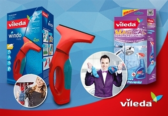 PACK VILEDA: Aspirador para Vidros WindowMatic + Magical Vileda. Lar sempre impec�vel!